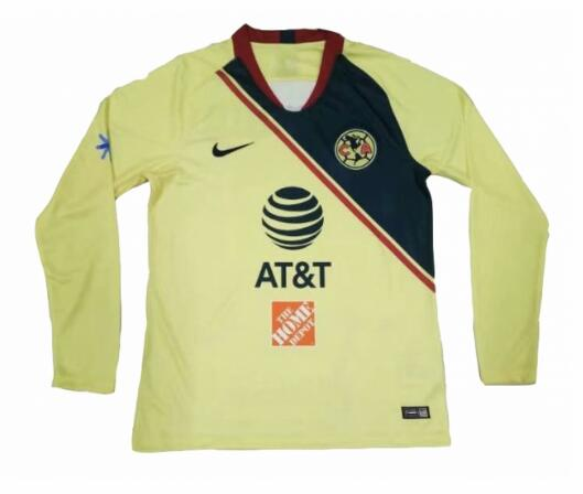 Club America 2018/19 Home Long Sleeved Shirt Soccer Jersey