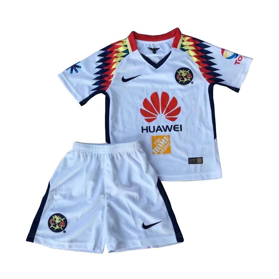 b89de45e9 Club America 2017 18 Away Kids Soccer Kit Children Shirt And Shorts