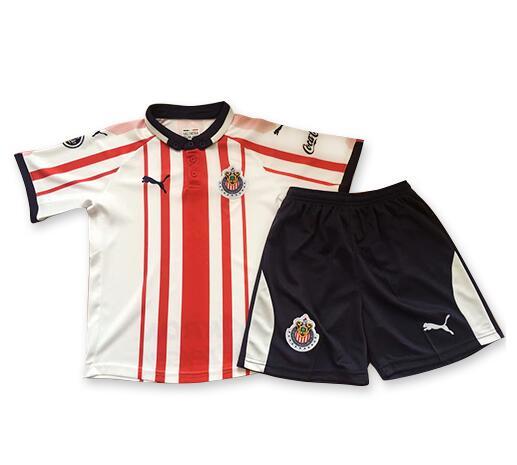 e419102ea4b Chivas 2018 19 Home Kids Soccer Jersey Kit Children Shirt And Shorts