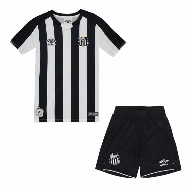 Kids Santos FC 2019/2020 Away Soccer Jersey Kits (Shirt+Shorts)