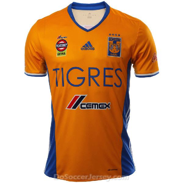 Tigres UANL 2016/17 Home Shirt Soccer Jersey