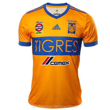 Tigres UANL 2017/18 Home Shirt Soccer Jersey