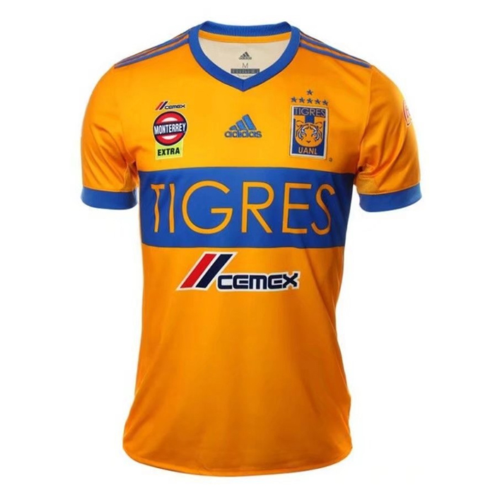 Tigres UANL 2017/18 Home Shirt 6-Star Soccer Jersey