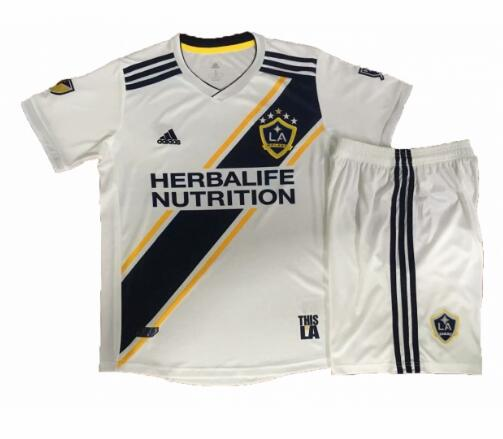 Los Angeles Galaxy 2019/2020 Home Kids Soccer Jersey Kit Children Shirt + Shorts