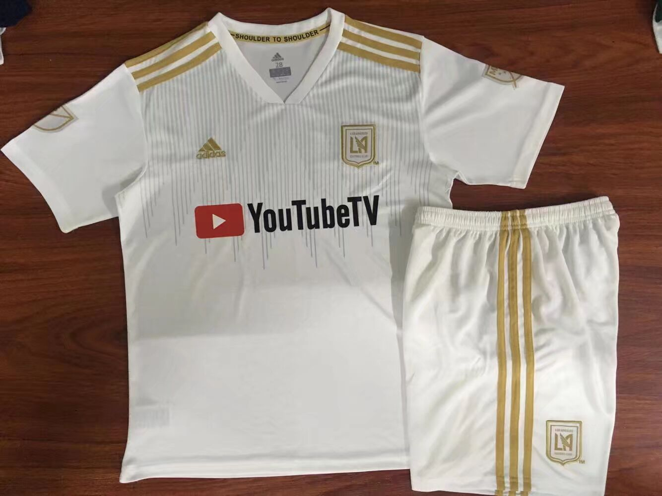 Los Angeles FC 2018/19 Home Kids Soccer Jersey Kit Children Shirt + Shorts
