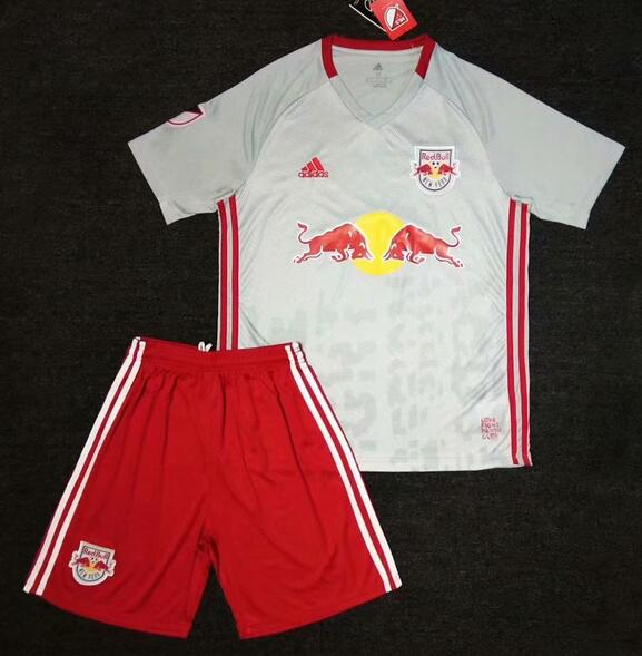 New York Red Bulls 2019/2020 Home Kids Soccer Jersey Kit Children Shirt + Shorts