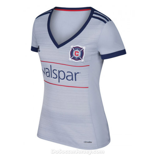 Chicago Fire 2017/18 Away Women's Shirt Soccer Jersey