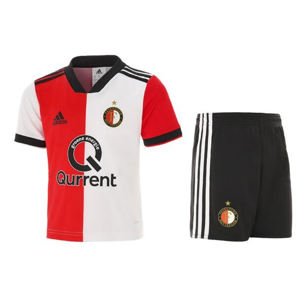 Feyenoord Rotterdam 2018/19 Home Kids Soccer Jersey Kit Children Shirt + Shorts