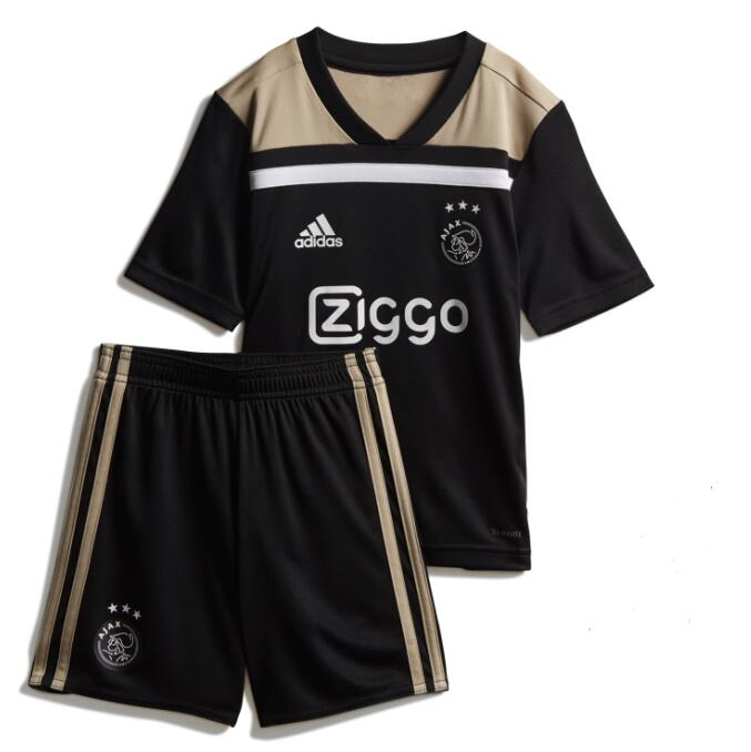 Ajax 2018/19 Away Kids Soccer Jersey Kit Children Shirt + Shorts