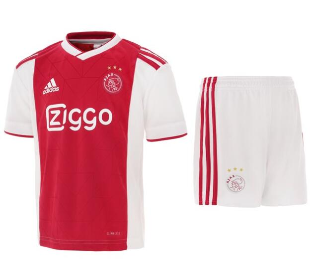 Ajax 2018/19 Home Kids Soccer Jersey Kit Children Shirt + Shorts