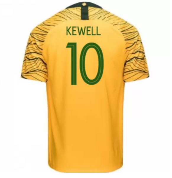 Australia 2018 FIFA World Cup Home Harry Kewell Shirt Soccer Jersey