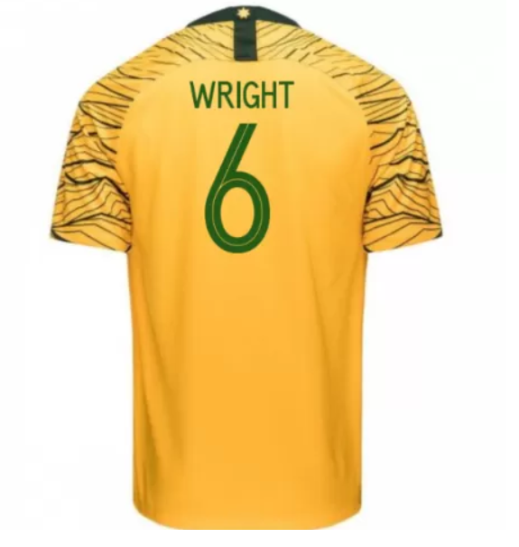 Australia 2018 FIFA World Cup Home Bailey Wright Shirt Soccer Jersey