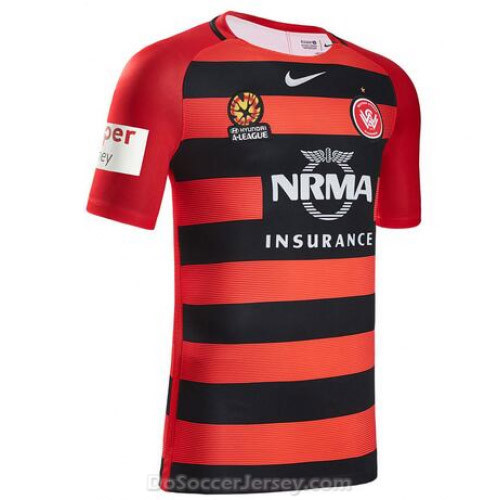 Western Sydney Wanderers FC 2016/17 Home Shirt Soccer Jersey