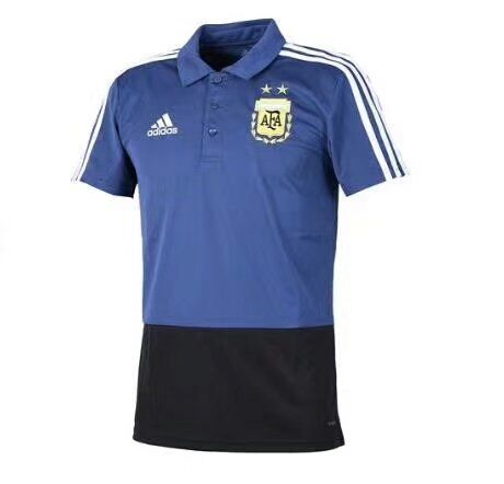 Argentina 2018 World Cup Blue Polo Shirt