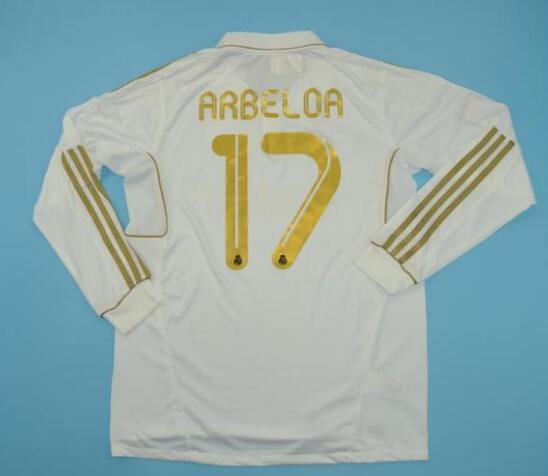 bb5a45fe143 Real Madrid 2012 Home Retro ARBELOA  17 Shirt Long Sleeve Soccer Jersey