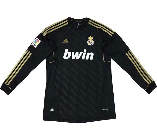 343bc52ecf5 Real Madrid 2012 Away Black Retro Shirt Long Sleeve Soccer Jersey