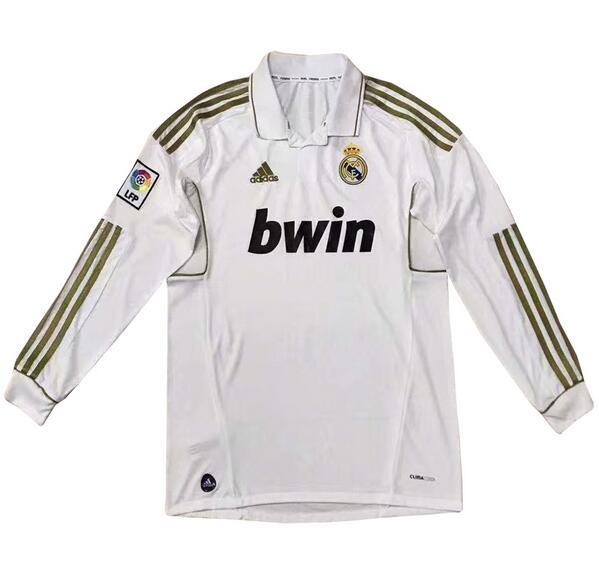 69fbaaff8 Real Madrid 2012 Home Retro Shirt Long Sleeve Soccer Jersey