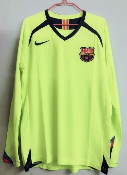 Barcelona 2005-2006 Away Retro Long Sleeved Shirt Soccer Jersey