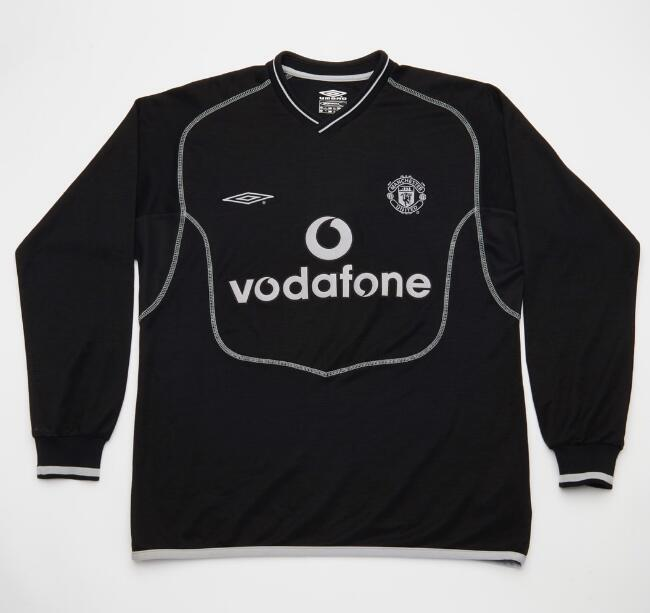 a9675ed14 Manchester United 2000-2002 Retro Goalkeeper Black LS Shirt Soccer Jersey