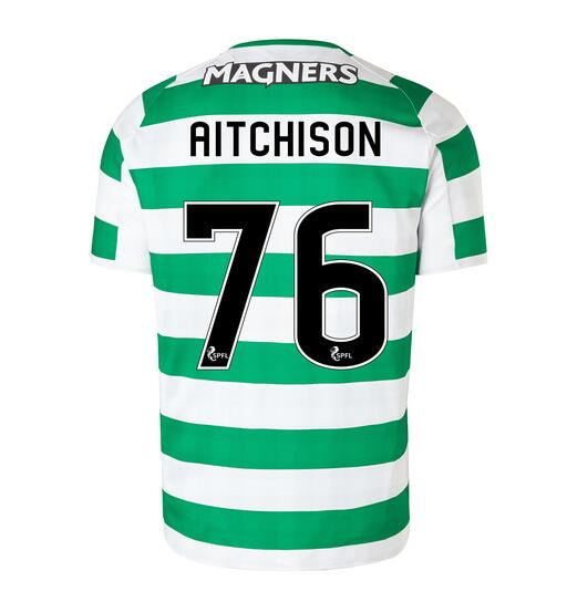 Celtic 2018/19 Home Aitchison 76 Shirt Soccer Jersey