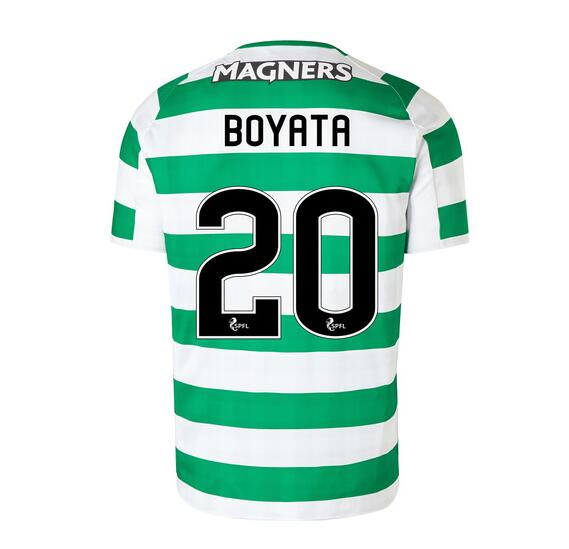 Celtic 2018/19 Home Boyata 20 Shirt Soccer Jersey