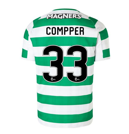 Celtic 2018/19 Home Compper 33 Shirt Soccer Jersey