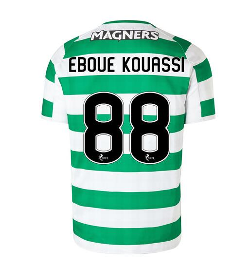 Celtic 2018/19 Home Eboue Kouassi 88 Shirt Soccer Jersey
