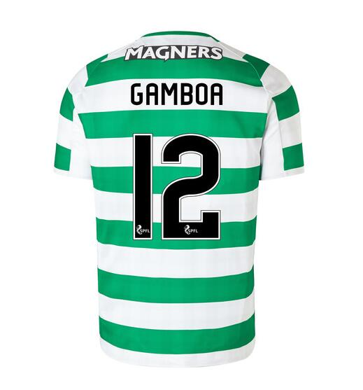 Celtic 2018/19 Home Gamboa 12 Shirt Soccer Jersey