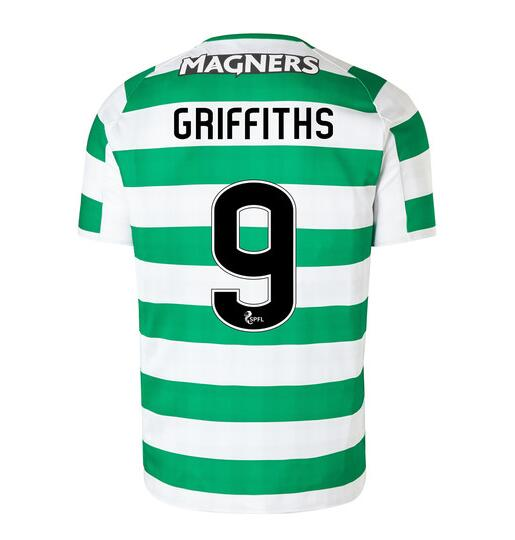 Celtic 2018/19 Home Griffiths 9 Shirt Soccer Jersey