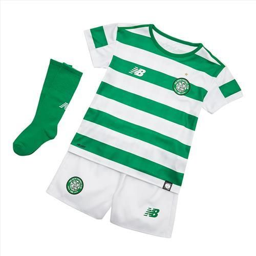 Celtic 2018/19 Home Kids Soccer Jersey Whole Kit Children Shirt + Shorts + Socks
