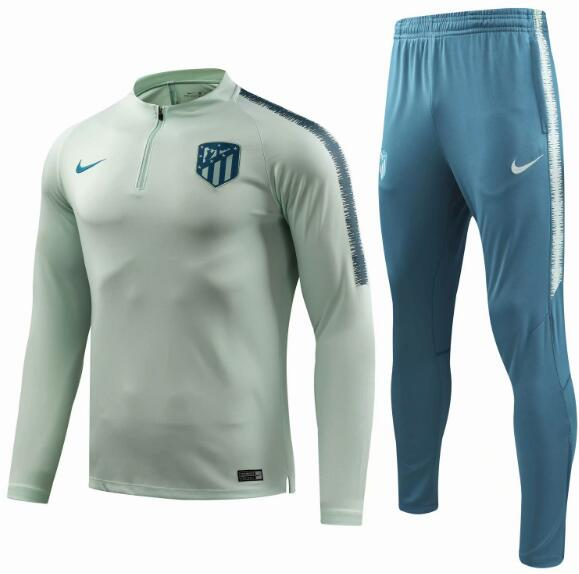 Atletico Madrid 2018/19 Lime Green Training Suit (Sweat shirt+Trouser)