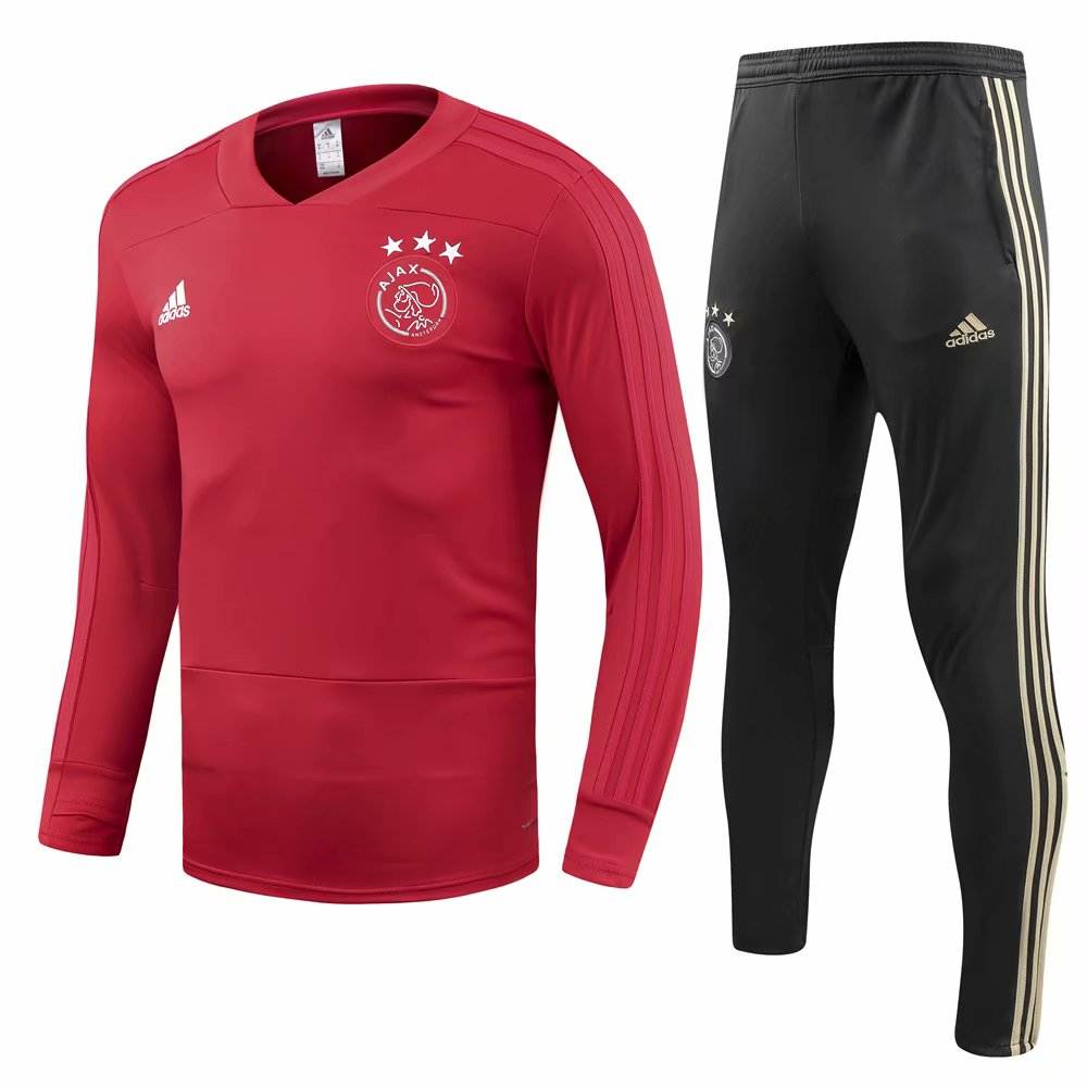 Ajax 2018/19 Red O'Neck Training Suit (Shirt+Trouser)
