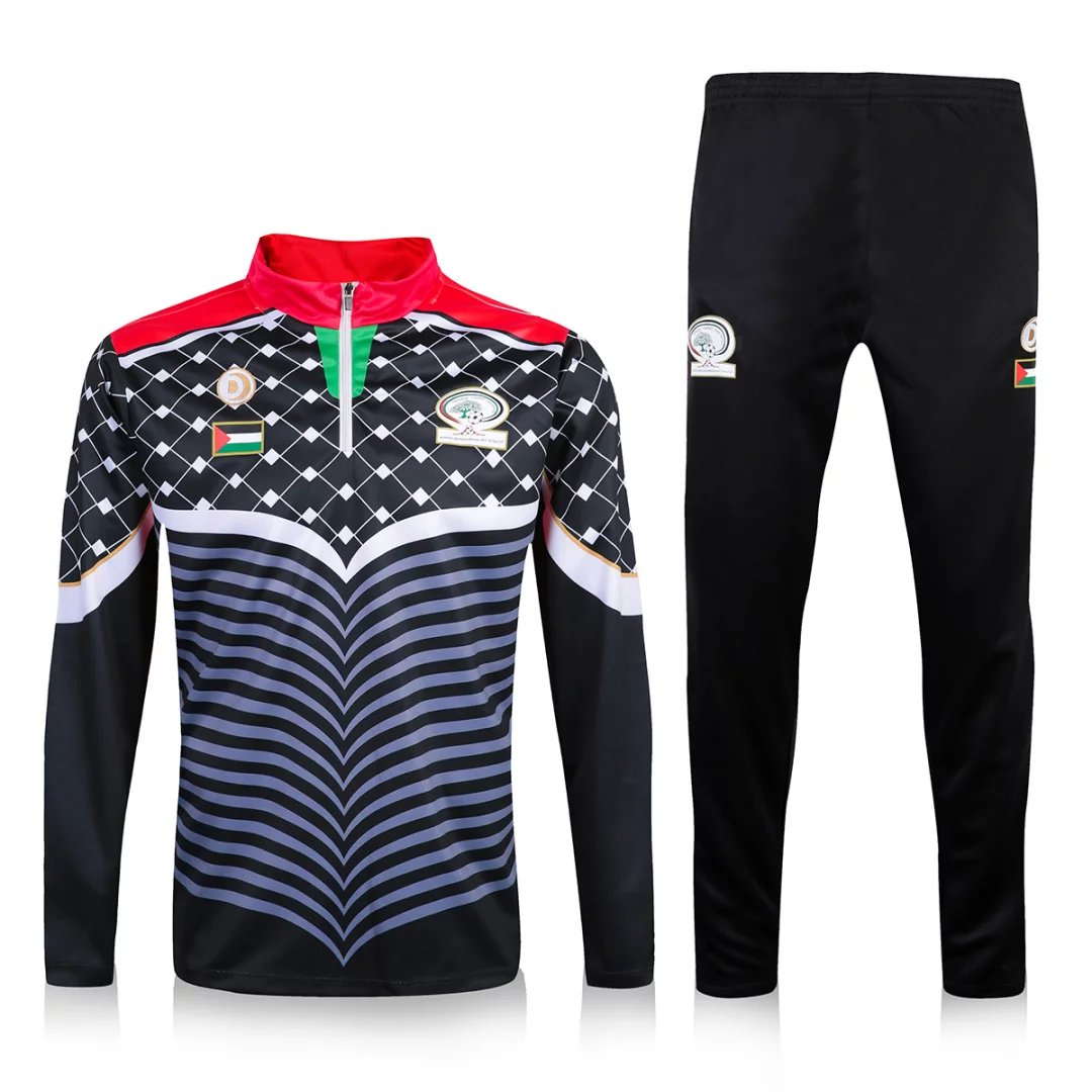 Palestine 2016/17 Black Training Suit (Shirt+Trouser)