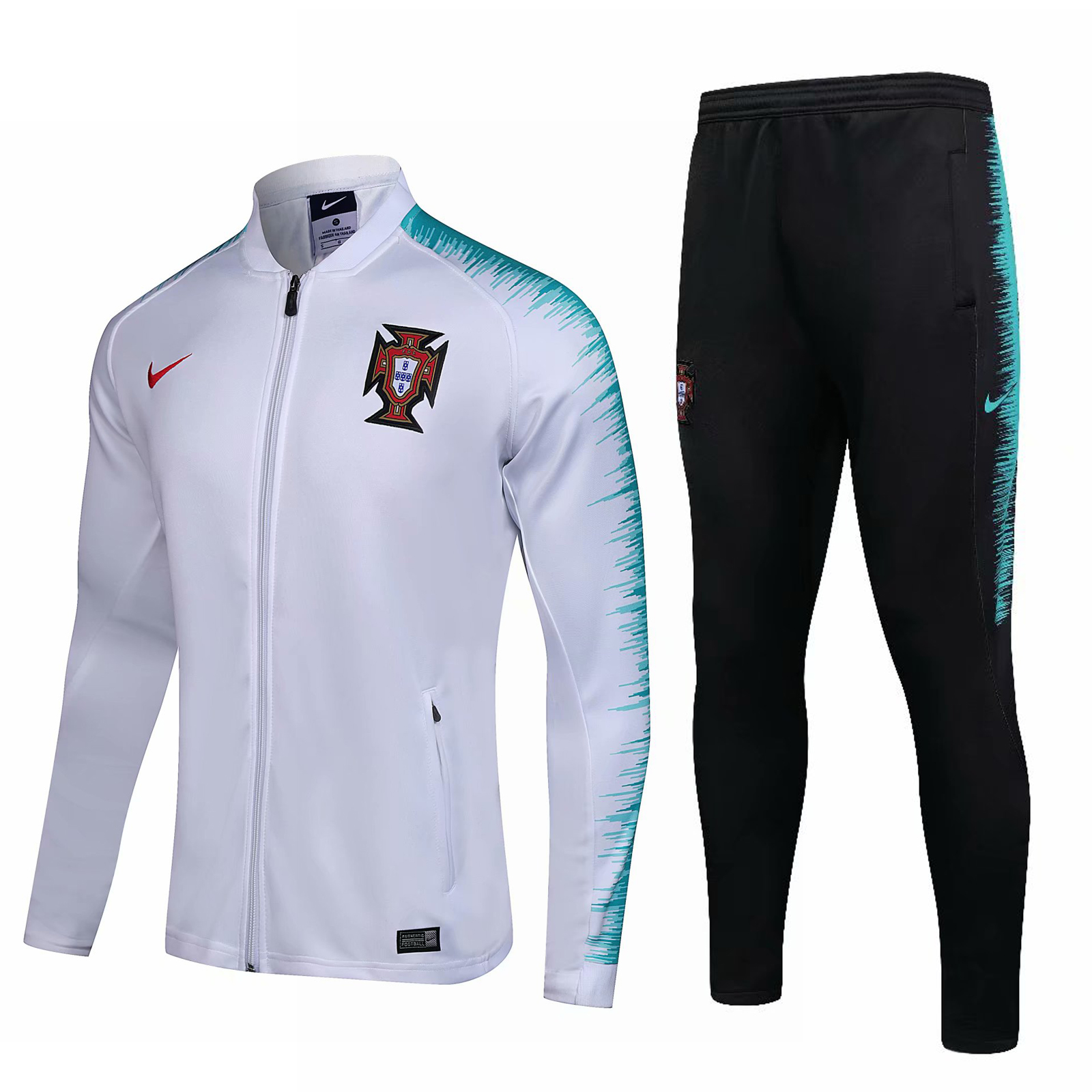 Portugal 2018 FIFA World Cup White Training Suit (Jacket+Trouser)