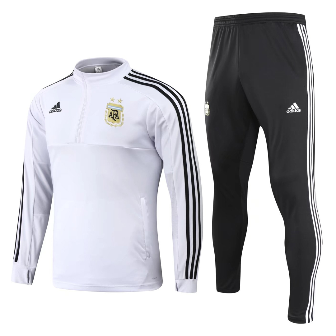 Argentina 2018 FIFA World Cup White Training Suit (Shirt+Trouser)
