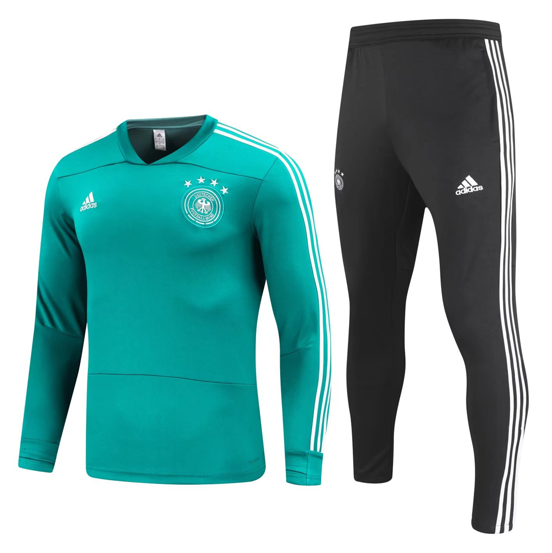 Germany 2018 FIFA World Cup Green Training Suit (Shirt+Trouser)