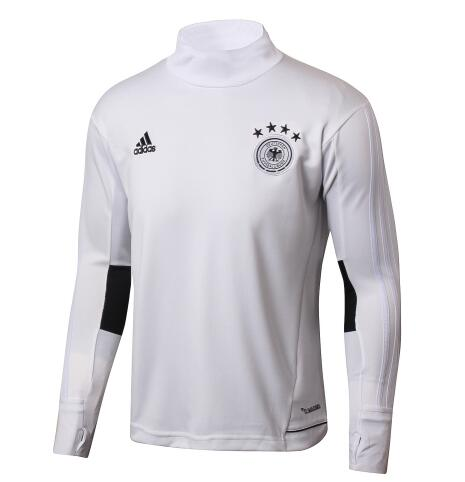 Germany World Cup 2018 White Training Sweat Shirt High Neck