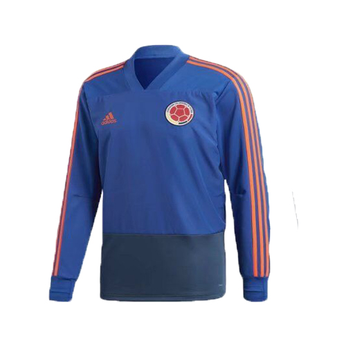Colombia World Cup 2018 Blue Training Sweat Shirt