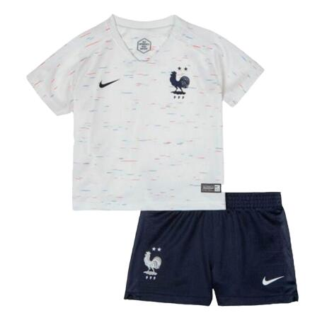 France 2 Stars 2018 World Cup Away Kids Soccer Kit Children Shirt And Shorts