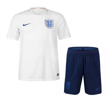 England 2018 FIFA World Cup Home Soccer Jersey Uniform (Shirt+Shorts)