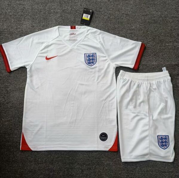 England 2019 World Cup Home Soccer Kits (Shirt+Shorts)