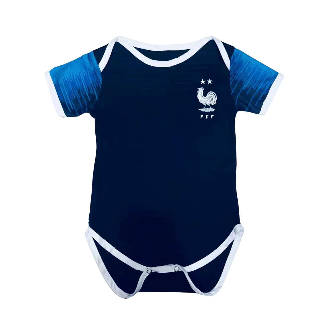 6950ad9dba3 France 2018 World Cup Home 2-Star Infant Soccer Jerseys Shirt Little Kids