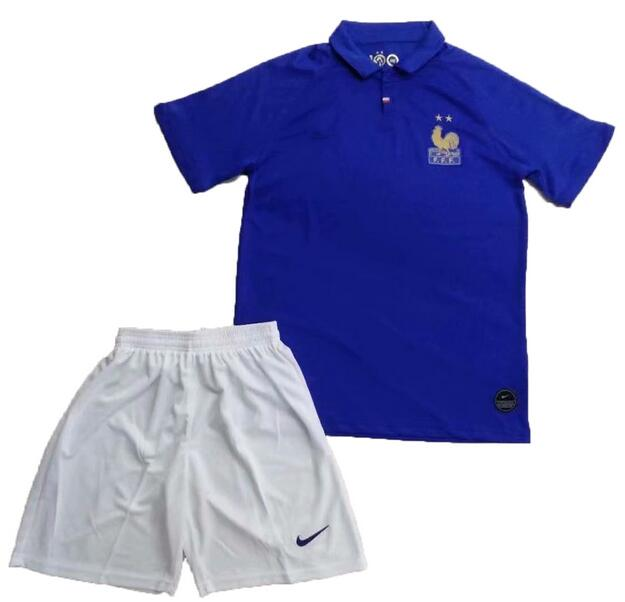 France 2019 FIFA World Cup Centenary Soccer Kits Shirt With Shorts