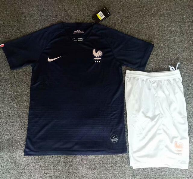 France 2019 World Cup Home Soccer Kits (Shirt+Shorts)