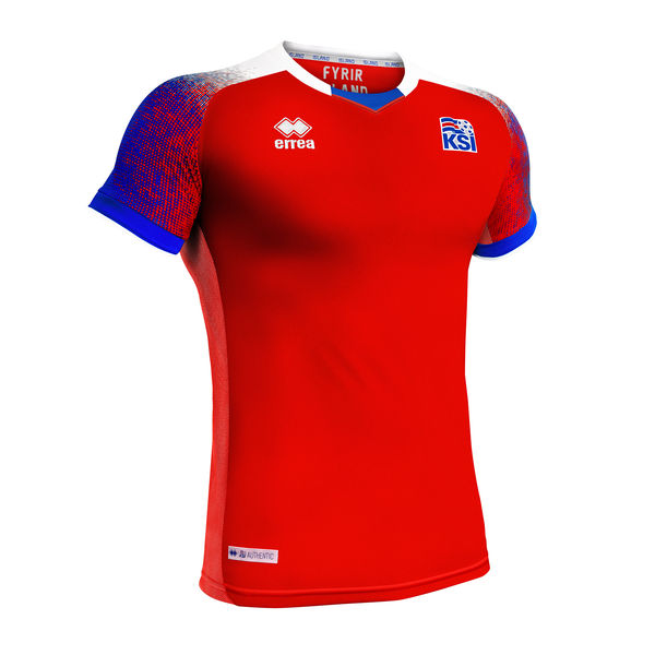 Iceland 2018 FIFA World Cup Third Away Shirt Soccer Jersey Red