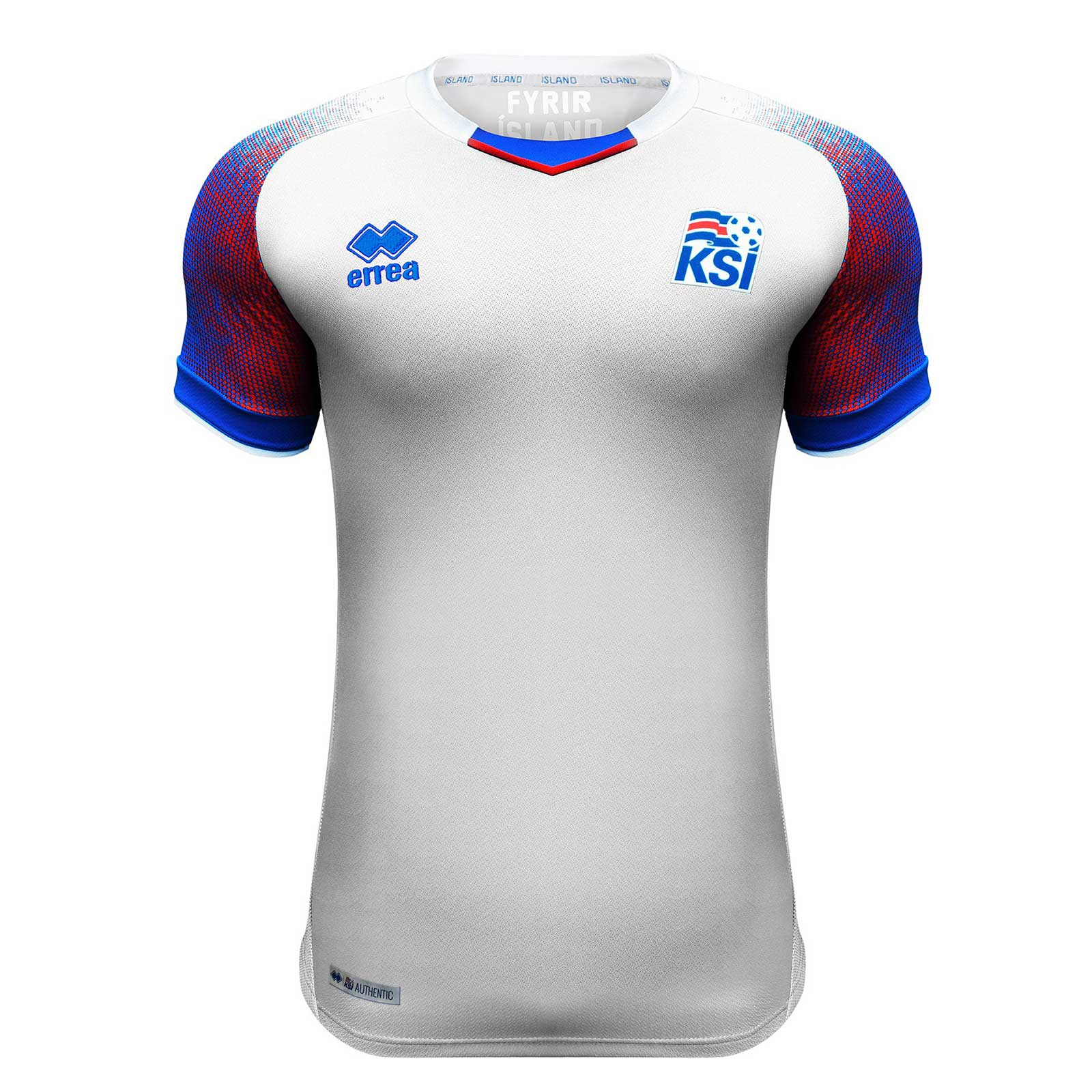 Iceland 2018 FIFA World Cup Away Shirt Soccer Jersey White