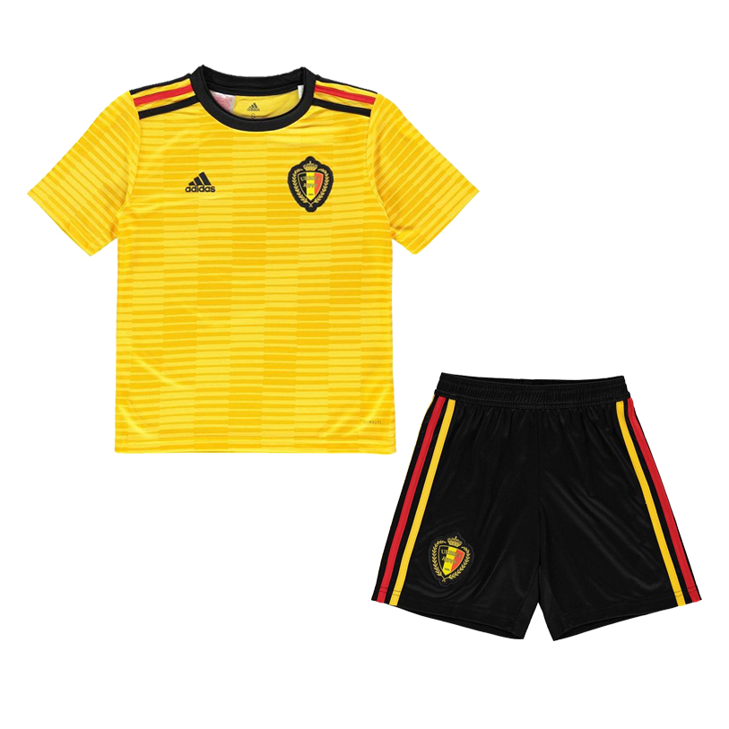 c0059c4a40c Belgium 2018 World Cup Away Kids Soccer Kit Children Shirt And Shorts