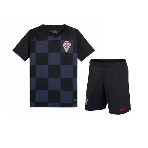 52e746b0347 Croatia 2018 World Cup Away Kids Soccer Kit Children Shirt And Shorts