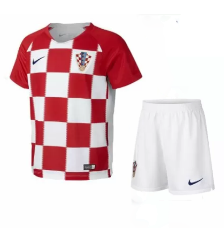 6880c60c7f9 Croatia 2018 World Cup Home Kids Soccer Kit Children Shirt And Shorts