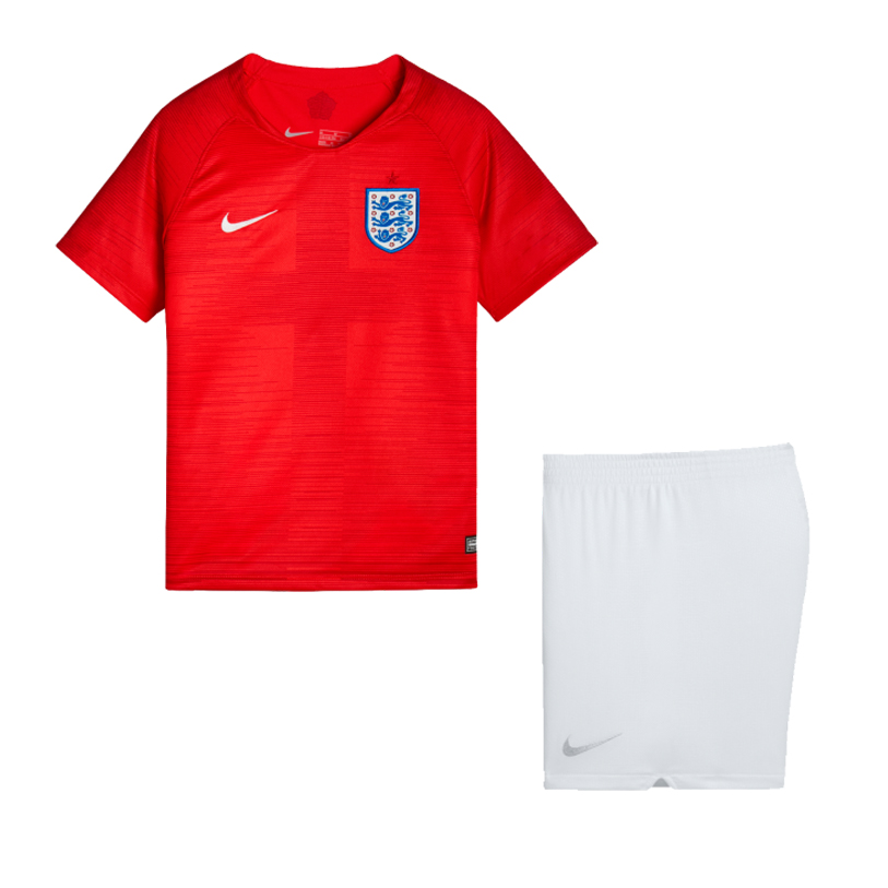 England 2018 World Cup Away Kids Soccer Kit Children Shirt And Shorts